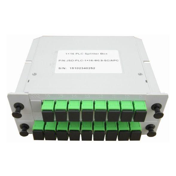cassete splitter optico 1 x 16 conector sc, apc nazda