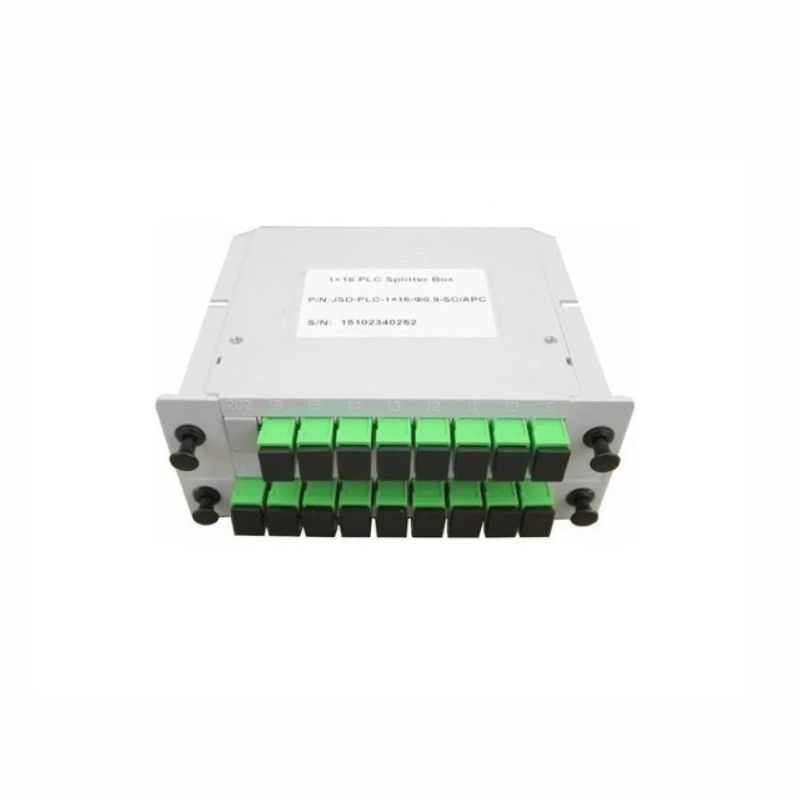 splitter box modular plc 1x16 sc, apc -  verde - sl
