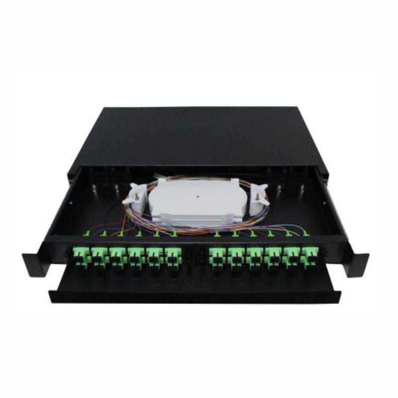 d.i.o 24fo completo conector sc, apc distrib interno óptico 2f-fdio-24-apc