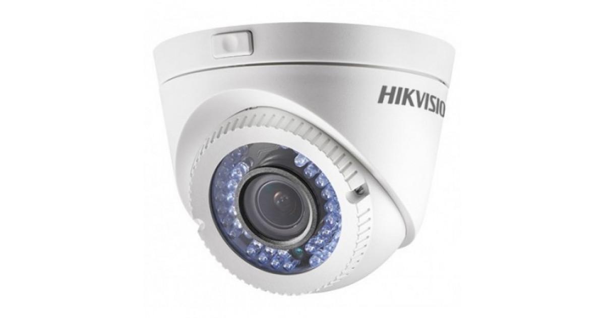 camera dome varifocal 2mp 40m  thd 1080p lente 2.8 12mm ds-2ce56d1t-vfir3 hikvision