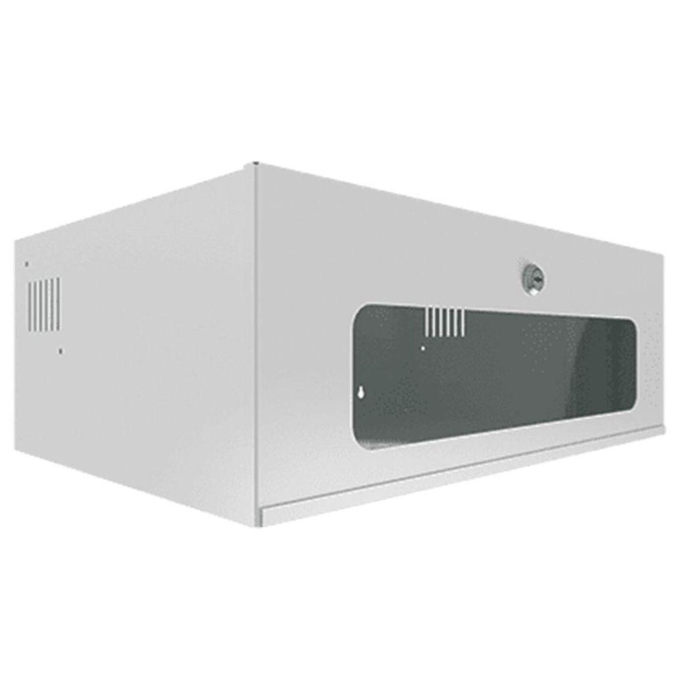 rack 3u de parede branco para cftv - onix