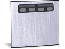unidade externa de porteiro eletronico duplo 4 botões compor mod 4c - hdl