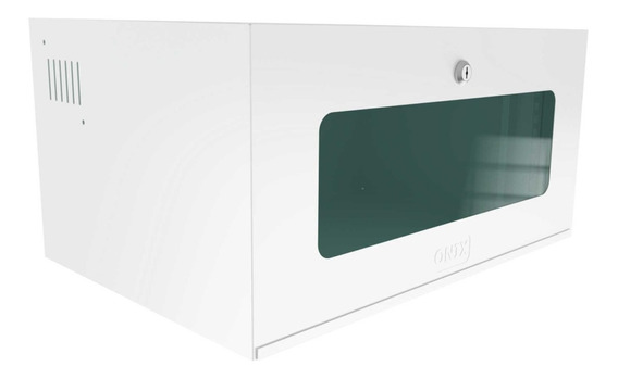 caixa rack metalica organizadora c,  fechadura branco - onix