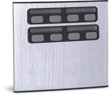 unidade externa de porteiro eletrônico 8 botões compor - hdl
