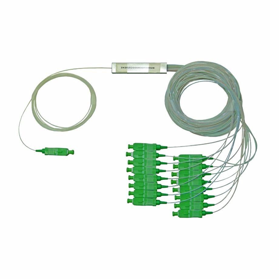 splitter 1, 16 fibra óptica 1x16 ftth balanceado sc, apc