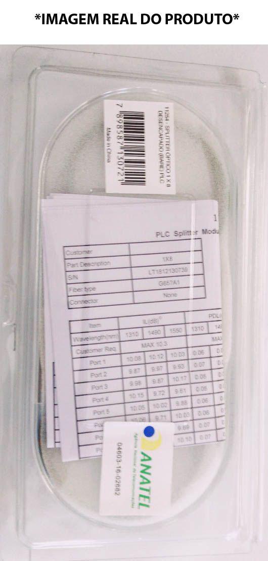 splitter óptico 1 x 8 bare plc nazda (vendido em par 2x)