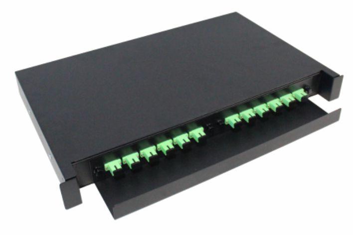 d.i.o 12fo completo -  conector sc, apc - distrib. interno óptico 2f-fdio-12-apc