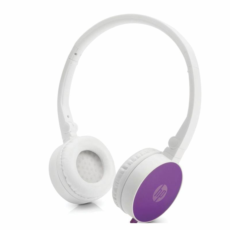 headphone fone + microfone dobravel h2800 hp - roxo
