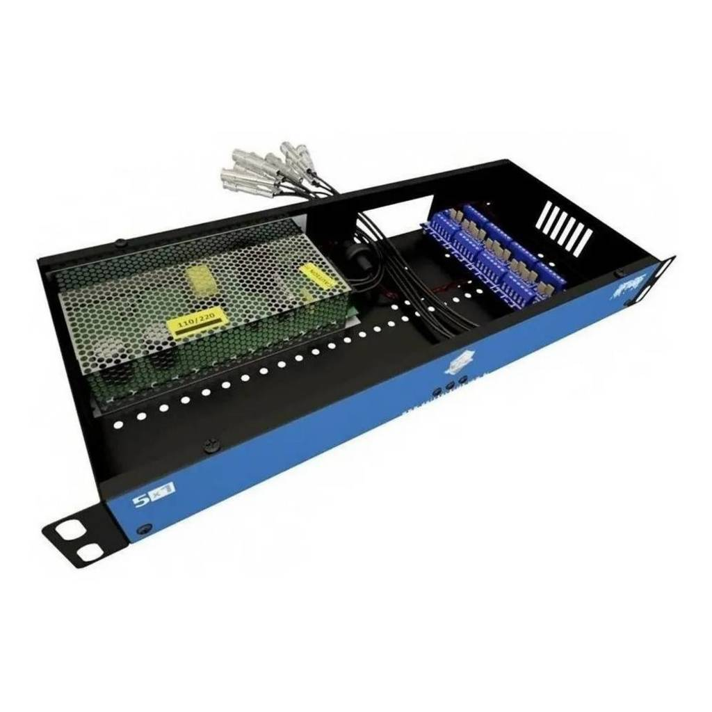 rack para cftv power coaxial hd 3000 08 canais - onx - 3833
