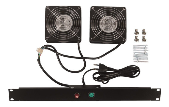 kit ventilacao rack c,  02 ventiladores rp pt - avr0002pp - tda