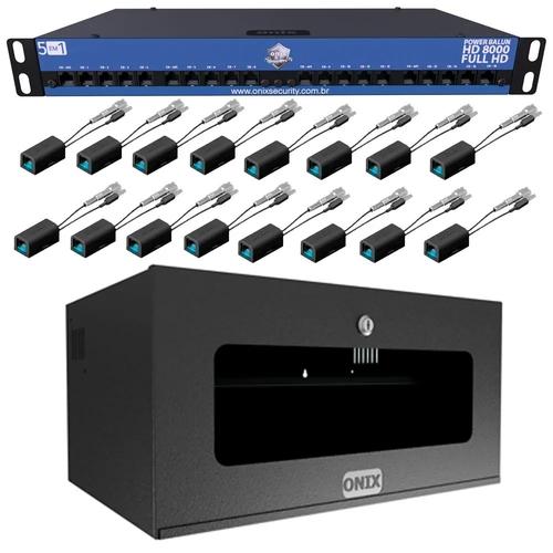 kit organizador power coaxial 16ch   rack 5u ac