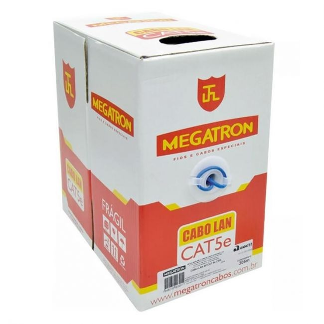 cabo de rede cat5e 100% cobre megatron