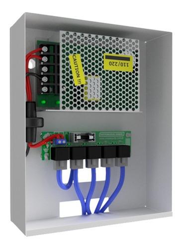 distribuidor de video 4x1 e fonte 3a - onx